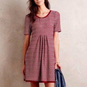 Anthropologie Maeve Dora Short Sleeve Red Dress XL